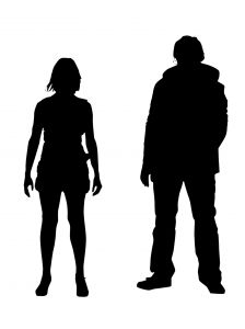 Image result for young adult silhouette