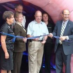 Cutting of the ribbon and opening of the exhibit
