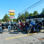 A FEW MORE BIKERS IN SHELBURNE, N.S. DURING THE TOUR